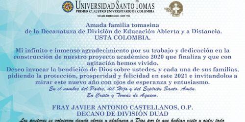 Saludo Fray Javier Antonio CASTELLANOS O.P.