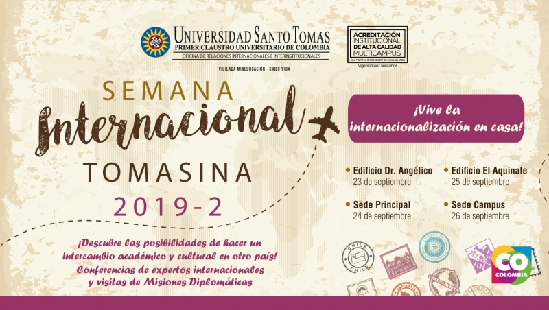 Semana internacional 2019 - 2 conferencias